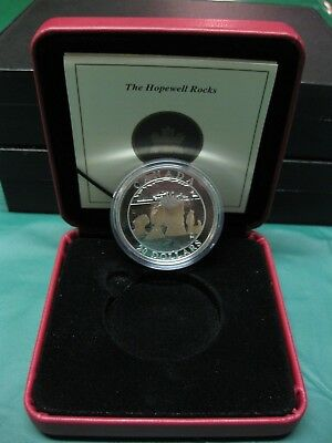 2004 Natural Wonders Hopewell Rocks Gold Gilded Canadian Silver Coin