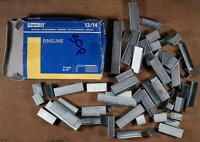 rapid 13/14 fineline staples 14 x 10.6mm 5000 box 1/2 full some loose