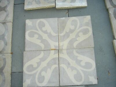 """Antique Encaustic Tiles Early 1900's from Spain 447 pcs available - 8"""" x 8"""" each"""