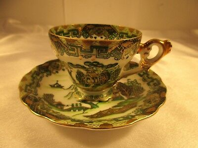 Vintage Hand Painted Tea Cup & Saucer Made in Japan AJ43/2588C