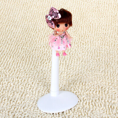 White Adjustable Doll Stand Display Holder 22-34cm for Barbie Doll Bear Accs