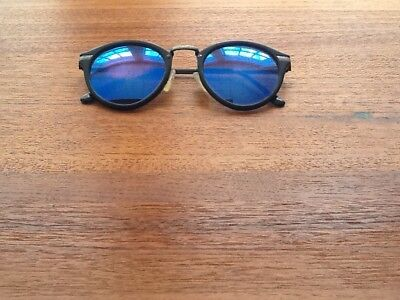 Vintage Revo Circle Executive Stealth Mirror Sunglasses Made In Japan