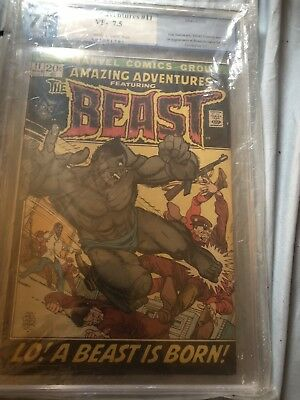 Amazing Adventures #11 The Beast PGX 7.5 Graded Vintage