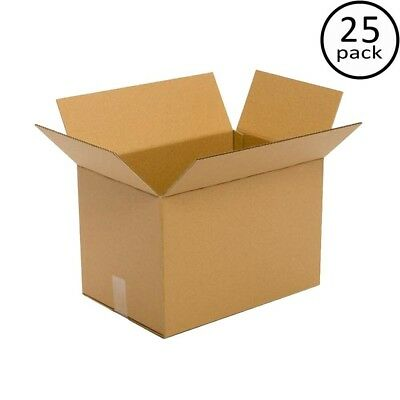 Moving Box (25-Pack) Cardboard Packing Plain Brown 18 in. L x 12 in. W x 12 in.