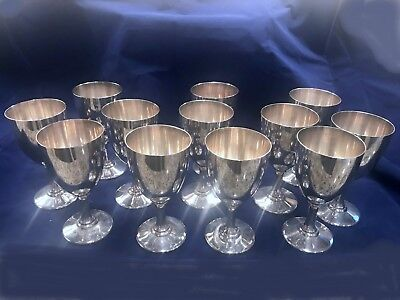 A.G. Schultz Sterling Silver set-12 Goblets- #22-No Mono 6 1/4 in tall -1800 gms