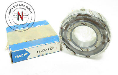 SKF N207-ECP CYLINDRICAL ROLLER BEARING, 35mm x 72mm x 17mm, OPEN, C0