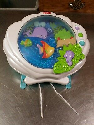 Fisher Price Ocean Wonders Deep Blue Sea Baby Crib Soother, Animated Light Sound