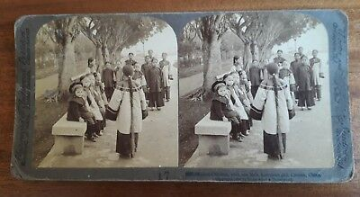 Chinese Stereoview 1900 Mission Children American Girl Canton 广州 China 中国 NR