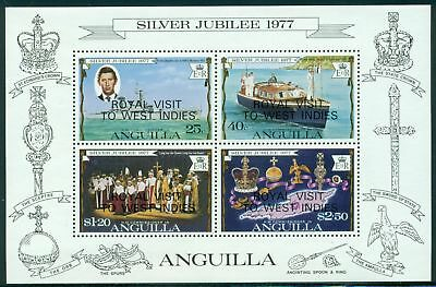 Anguilla Scott #300a MNH S/S OVPT Royal Visit on Elizabeth II Reign 25th ANN $$