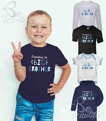 PROMOTED TO BIG BROTHER T SHIRT TEE BROTHER SISTER Tee Top Babysuit
