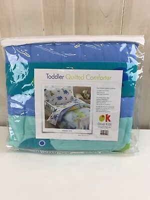 "Dinosaur Land Lightweight Toddler Quilt Comforter 100% Cotton Fits 42"" x 58"""
