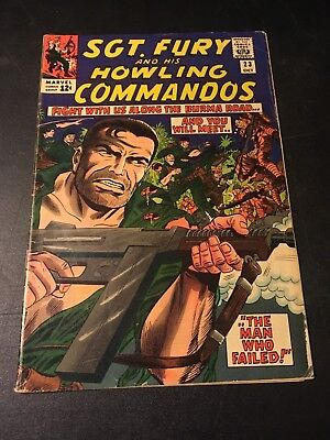 Sgt Fury And His Howling Commandos #23 (Oct 1965 Marvel) Stan Lee Story Vg+!
