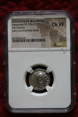 Kingdom Of Macedon Alexander Iii (The Great) 336-323Bc Silver Drachm