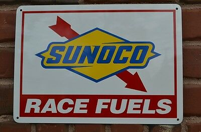 Sunoco Racing Fuel sign Gas Service Station race car