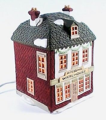 Dept 56 M Fezziwig Warehouse Dicken's RETIRED Xmas Carol Village Lighted House