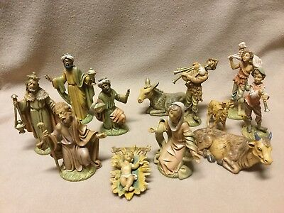 Vintage Nativity Christmas Set Made In Italy