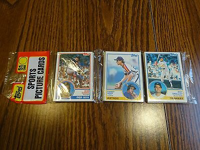 1983 Topps Baseball Unopened Rack Pack With Pete Rose On Back