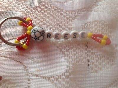 Boys Or Men's Personalized Keychain Or Zipper Pull With The Name Reese-New