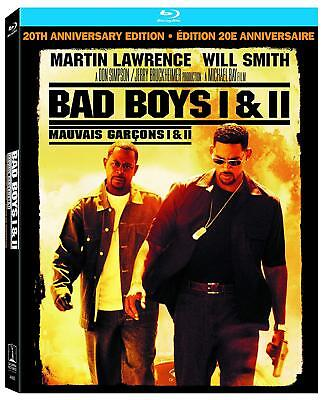 Bad Boys I & II Blu-ray 2 Disc 20TH Anniversary Edition box gift Set  NEW