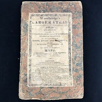 1822 Woodbridge's School Atlas Antique Maps - Very Rare!