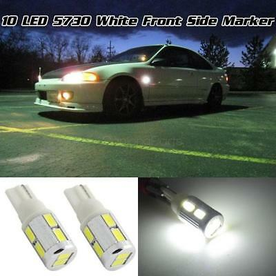 High Power White Pair 10-5730-Smd 194 W5W 168 2825 Front Signal Side Marker Bulb