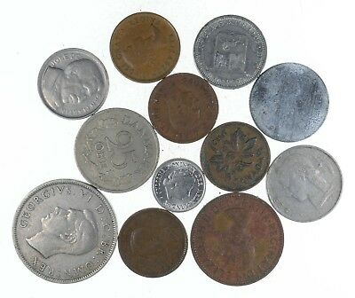 Lot Mixed World Coins 50-100 Years Old - Collection Bulk Great History *374