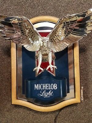 "1987 Michelob Light Beer Flying Eagle Sign 16""x16"""