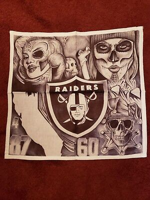 "Prison Art Drawing on Cloth - 15""x15"" approx. RAIDERS"