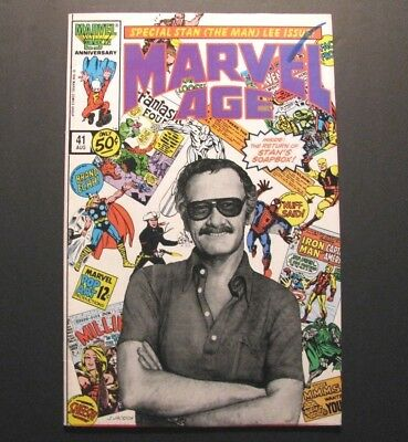 *stan Lee 1986 Cover *marvel Age* #41 – Spider-Man – Hulk –The Avengers – X-Men*