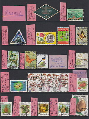 Malaysia Federation Issues & Malaysia Stamps -all different 1963-1999 per SG Cat