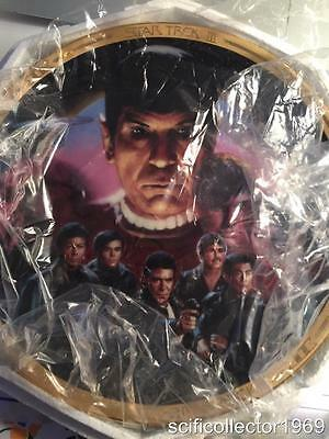 Star Trek III Limited Edition Plate.'The Search For Spock' Plate No. 3916CW/COA