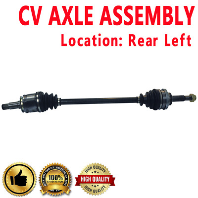 REAR LEFT & RIGHT CV DRIVE AXLE SHAFT ASSEMBLY PAIR For