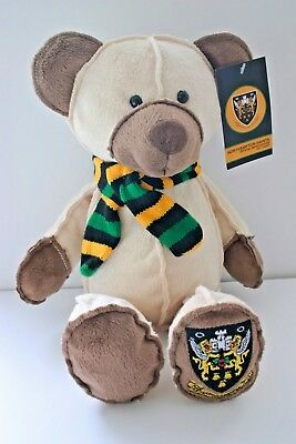 NORTHAMPTON SAINTS  RUGBY  SOFT CREAM BEAR * Official Merchandise  NEW /TAGGED