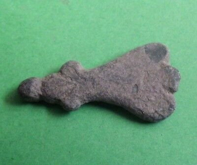 Ancient Celtic Bronze Axe Ax Amulet Pendant - 600/400 Bc - Rare - Wearable!