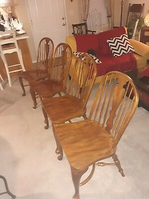 Set of 4 DREXEL HERITAGE Windsor Colonial DINING CHAIRS
