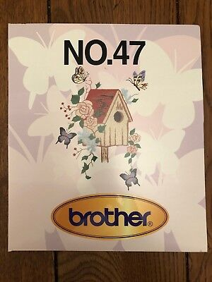 Embroidery Design Card For Brother Machines.No.47 Butterfly Styles 28 Designs