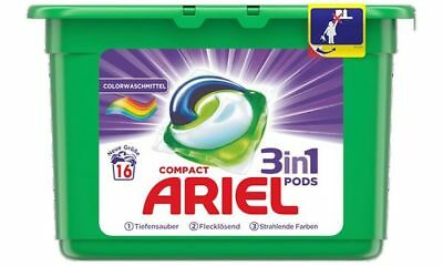 ARIEL 3in1 Pods Compact Waschmittel Color, 16 WL