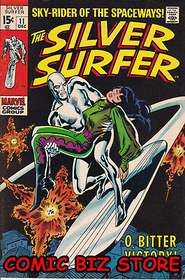 Silver Surfer #11 (1969) Silver Age Marvel 1St Print Fn+ 7.0 Bagged & Boarded