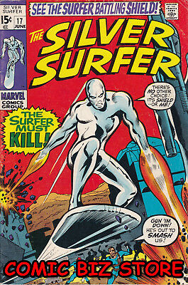 Silver Surfer #17 (1970) Bronze Age Marvel 1St Print Fn- 5.5 Bagged & Boarded