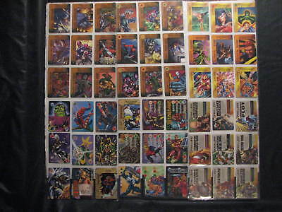 Overpower Trading Cards lot of 54 different 1996 Marvel Fleer