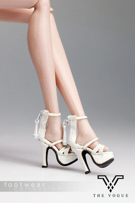 B1008-02 The Vogue White Leather Lace Fashion High Heels Shoes for FR FR2