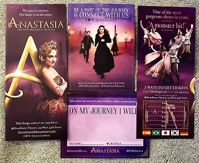 Anastasia *flyer and postcard package* - Broadway - Free Ship* - (sans playbill)