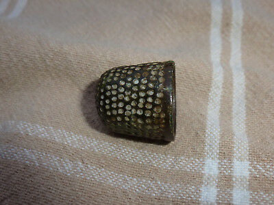 Superb Medieval Bronze Beehive Thimble - Lovely Patina,Lovely Metal