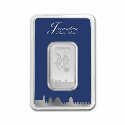 1oz Silver Bar .999 Fine Dove over Jerusalem Skies The Holy Land Mint israel