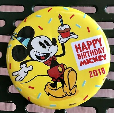 Disney Parks Happy 90th Birthday Mickey Mouse 2018 Exclusive Button