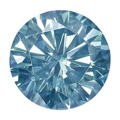 1 Coupe Ronde Brillant Moissanite Chic Bleu 7mm Diamètre 1.20 Carats