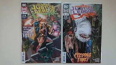 Justice League Dark #2&3 1st App Upside Down Man. New Bagged and Boarded