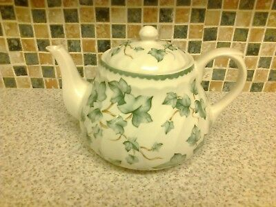 Bhs British Home Stores Country Vine Design Teapot Holds Over 2 Pints