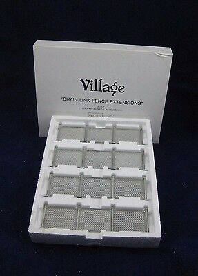 """Dept 56 """"CHAIN LINK FENCE EXTENSIONS"""" #52353, NEW in Box, Set of 4"""