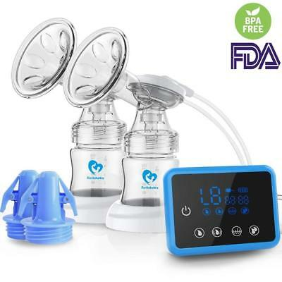 Electric Breastfeeding Pump Breast Massage Dual Suction Touchscreen LED Display